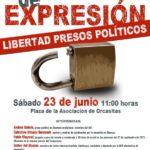 Madrid 23-J: Por la Libertad de Expresión. ¡Libertad Pres@s Polític@s!